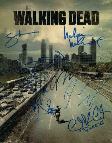 THE WALKING DEAD CAST (X7) SIGNED AUTOGRAPH 11x14 PHOTO - NORMAN REEDUS++, RARE!