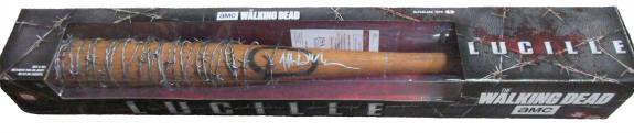 The Walking Dead McFarlane Bat Lucille Autographed by actor Jeffrey Dean Morgan JSA cert