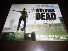 The Walking Dead Norman Reedus, Cohan & Nicotero Signed Autographed Cast 11x14