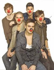 The Wanted Autographed 11x14 Signed Ball Nose Photo x4 AFTAL