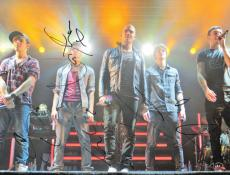 The Wanted Autographed 11x14 Signed Concert Photo x4 AFTAL