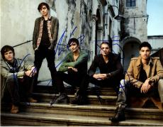 The Wanted Band Group Autographed Signed 11x14 Photo AFTAL UACC RD