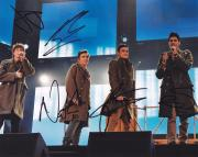 The Wanted Group Signed 8x10 Photo W/COA Max Nathan Tom Siva Jay #1
