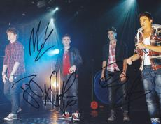 The Wanted Group Signed 8x10 Photo W/COA Max Nathan Tom Siva Jay #2