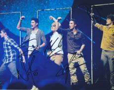 The Wanted Group Signed 8x10 Photo W/COA Max Nathan Tom Siva Jay #3
