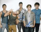THE WANTED group signed MUSIC 8X10 photo W/COA *CHASING THE SUN* MAX GEORGE #2