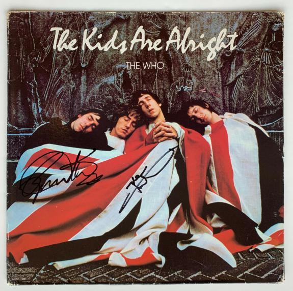 Who Daltrey Townshend autographed signed vinyl record album Kids   Beckett BAS