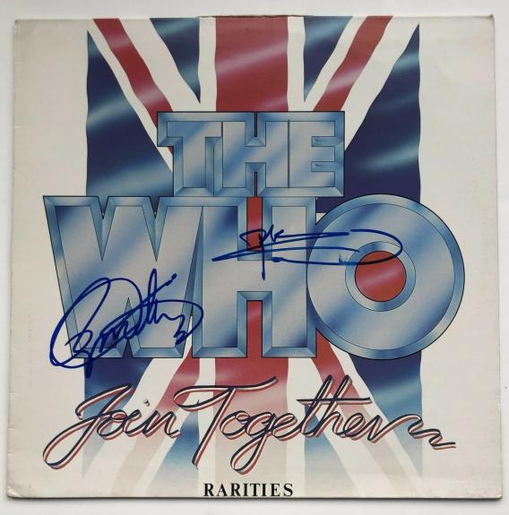 "The Who ""Join Together Rarities"" Album signed by Daltrey & Townshend BAS COA"