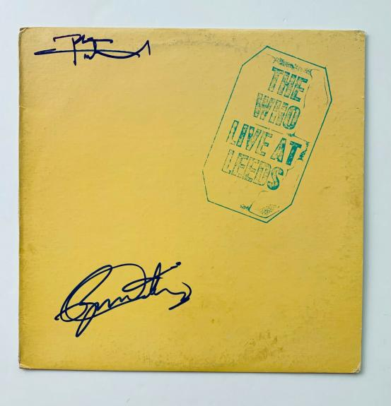 """The Who """"Live at LEEDS"""" Vinyl Record Album signed by Daltrey & Townshend BAS COA"""