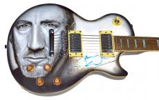The Who Pete Townshend Amazing Signed Airbrushed Guitar AFTAL UACC RD COA
