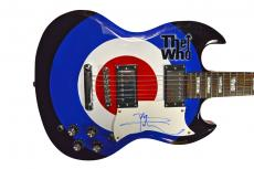 The Who Pete Townshend Autographed Bullseye logo Airbrushed Guitar AFTAL UACC RD