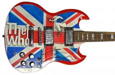 The Who Pete Townshend Autographed Custom Airbrushed Guitar