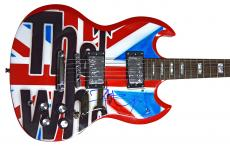 The Who Pete Townshend British Flag Signed Airbrushed Guitar AFTAL UACC RD COA