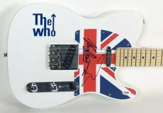 The Who Pete Townshend Kenney Jones Signed Autographed Guitar PSA/DNA