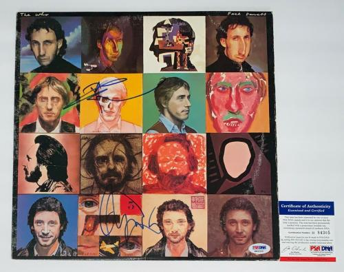 The Who Pete Townshend & Roger Daltrey Signed Face Dances Record Album Psa Coa