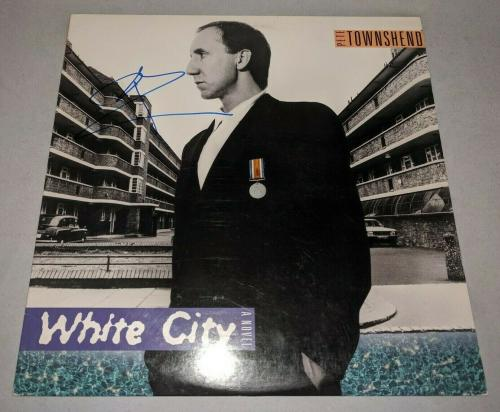 """THE WHO PETE TOWNSHEND signed autographed """"WHITE CITY"""" LP RECORD BECKETT COA BAS"""