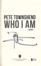 The Who Pete Townshend Signed Autographed Who I Am Book Beckett BAS