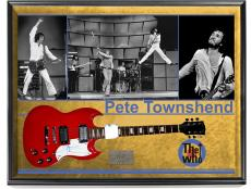 The Who Pete Townshend Signed Guitar + Display Shadowbox Case AFTAL