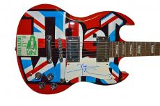 The Who Roger Daltrey Pete Townshend Autographed Airbrushed Guitar AFTAL UACC RD