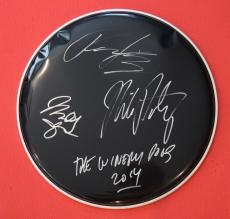The Winery Dogs Band Signed Drumhead Mike Portnoy Billy Sheehan Richie Kotzen
