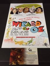 The Wizard Of Oz Munchkins Maren Pellegrini Slover Signed Autograph 11x17 Photo
