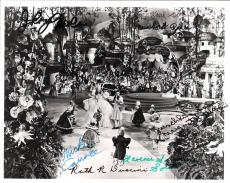 "THE WIZARD of OZ"" Signed by JERRY MOREN, MEINHARDT RAABE, KARL SLOVER, RUTH DUCCINI, CLARENCE SWENSEN, MICKEY CARROLL, and MARGARET PELLEGRINI - 10x8 B/W Photo"