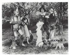 """THE WIZARD OF OZ"""" Signed by RAY BOLGER as HUNK/SCARECROW and JACK HALEY as TIN WOODMAN/TIN MAN (RAY Passed Away 1987 and JACK 1979) 10x8 B/W Photo"""