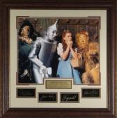 The Wizard of Oz unsigned 29x30 Engraved Signature Series Leather Framed w/Cast (entertainment/photo)
