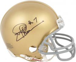Joe Theismann Notre Dame Fighting Irish Autographed Mini Helmet - Mounted Memories