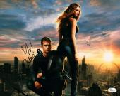 Theo James and Shailene Woodley Signed 11x14 Photo w/JSA Divergent M84040
