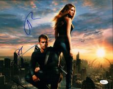 Theo James and Shailene Woodley Signed 11x14 Photo w/JSA Divergent M84041
