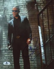 "Theo Rossi Autographed 8"" x 10"" Luke Cage Wearing Black Tux on Stairs Photograph - Beckett COA"