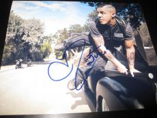THEO ROSSI SIGNED AUTOGRAPH 8x10 PHOTO SONS OF ANARCHY PROMO MOTORCYCLE RARE D