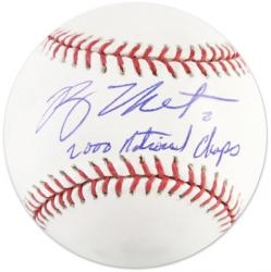 "Ryan Theriot Signed Official MLB Baseball w/""2000 National Champs"