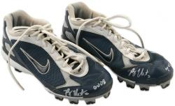 Ryan Theriot Autographed 2008 Game Used Pair of Blue Nike Cleats - Mounted Memories