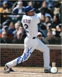 """Ryan Theriot Chicago Cubs Autographed 8"""" x 10"""" Swinging Photograph"""