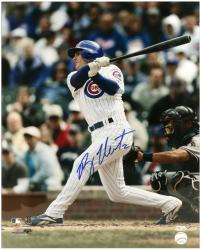 """Ryan Theriot Chicago Cubs Autographed 16"""" x 20"""" White Jersey Photograph"""