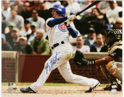 """Ryan Theriot Chicago Cubs Autographed 16"""" x 20"""" vs Pittsburgh Pirates Photograph"""