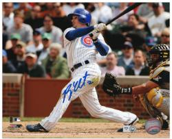 """Ryan Theriot Chicago Cubs Autographed 8"""" x 10"""" vs Pittsburgh Pirates Photograph"""