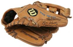 Ryan Theriot Autographed Glove with Game Used 09 Inscription - Mounted Memories