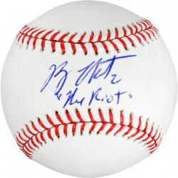 Ryan Theriot Autographed Baseball with The Riot Inscription