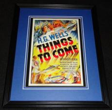 Things to Come Framed 11x14 Poster Display Official Repro Raymond Massey