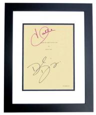 Things we lost in the Fire Signed - Autographed Script by Halle Berry and David Duchovny BLACK CUSTOM FRAME