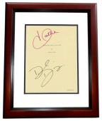 Things we lost in the Fire Signed - Autographed Script - Guaranteed to pass PSA or JSA by Halle Berry and David Duchovny MAHOGANY CUSTOM FRAME - Guaranteed to pass PSA or JSA