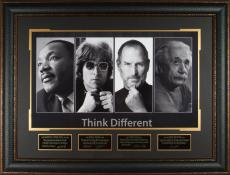 THINK DIFFERENT Albert Einstein Steve Jobs Laser Signed Disp