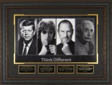 Think Different unsigned 25x34 4 Photo Engraved Signature Series Leather Framed -Steve Jobs / John Lennon/ Albert Einstein