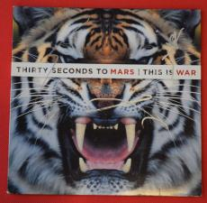 Thirty Seconds to Mars Signed Autographed This Is War Record Album Jared Leto LP