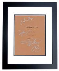 This Boy's Life Autographed Script by Leonardo Dicaprio, Eliza Dushku, Chris Cooper, and Carla Gugino BLACK CUSTOM FRAME