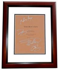 This Boy's Life Signed - Autographed Script by Leonardo Dicaprio, Eliza Dushku, Chris Cooper, and Carla Gugino MAHOGANY CUSTOM FRAME