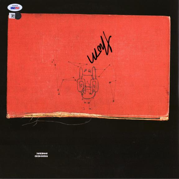 Thom Yorke RadioHead Autographed Amnesiac Album Cover with Vinyl - PSA/DNA